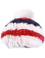 Qiaoba- Automne et hiver, chapeaux de laine de lapin élégants chaude Casquette