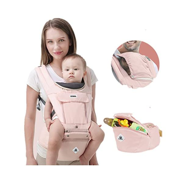 All Seasons 360 Ergonomic Baby Carrier 3 in 1 Backpack with Hip Seat-12 Position,Adapt to Growing Baby (Newborn, Infant & Toddler), Adjustable Baby Carrier Sling,Baby Diaper Bag with Large Capacity tqgold Ergonomic And Comfortable: Ergonomic Butterfly hip seat design to ensure baby's hips and legs are positioned correctly and comfortably, minimizes leg bending and prevents O-LEG Breathable And Soft: 100% cotton with high quality 3-D mesh keeps you and your baby cool. Removable shutter can keep warm in winter and cool in summer, suitable for all seasons use. Wide and sturdy lumbar belt ensures baby's weight is distributed evenly over the carrier's hip and shoulder areas for comfort 3 in 1 and All Carry Positions: The Waist Stool (bucket seat) could be detached from Upper Strap by unbuckling the connection buckles. Both Upper Strap and Waist Stool can be used separately. Front inward (fetal, infant, or toddler settings), front outward, hip or backpack carry options all in one. Face baby in or out. Wear on the hip or back as baby grows. 49
