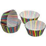 Kitchen Craft Caissettes Cupcakes carrées à Pois Sweetly Does It Bande 60 pièces, Mixture of Several Materials, Multicolore, 9 x 12 x 16 cm