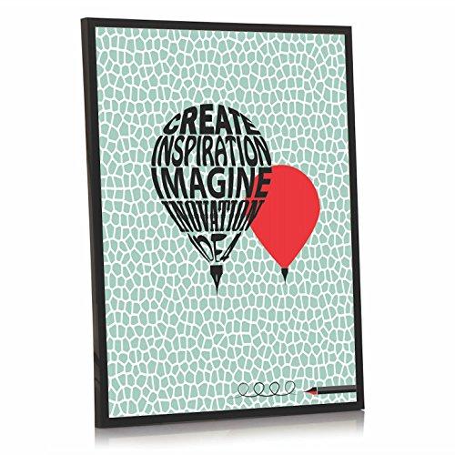 Inspirierende Foto gerahmt | schaffen inspiriert von Imagine Inovation Idee | Pen Ballon | ideal Geburtstag Familie | 40x 30cm Druck | schwarz Rahmen, plastik, Print Only, 30 x 40 cm