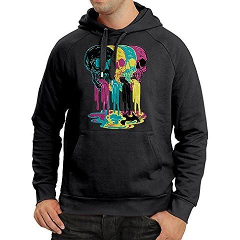 Sudadera con capucha Cráneos de color idea del regalo de moda