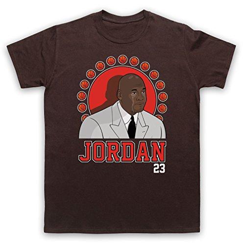 Inspiriert durch Crying Jordan Michael Jordan 23 Basketballer Award Inoffiziell Herren T-Shirt Braun