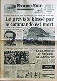 france soir du 07 06 1977 cyclisme hinault le greviste blesse par le commando est mort citroen a roland garros chirac belmondo ventura julian et quelques autres 25 ans de regne d elisabeth