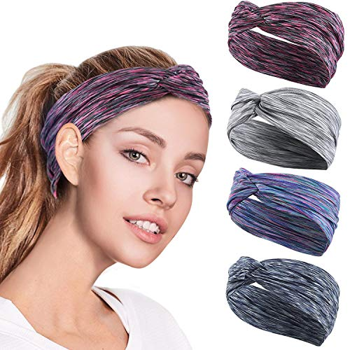 GoHZQ 4PCS Women Workout Headban...