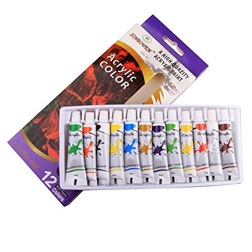 NiceButy 12Colores Tubo tintes Lavables no tóxicos Pintura acrílica Set Pigment Pintura Arte Herramientas de Dibujo Suministros para el Arte Bricolaje Pintura Graffiti Utiles y Bien
