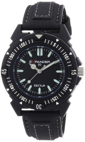 Sector Expander - R3251197025 - 90 - Montre Homme - Quartz Analogique - Cadran Noir - Bracelet Tissu Noir