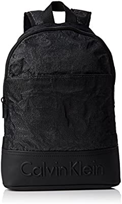 Calvin Klein BASTI4N + Backpack, Bolsa para Hombre, Negro (Black), 20x46x28 cm (b x h x t)