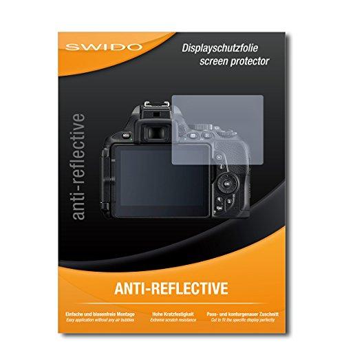 SWIDO Displayschutzfolie für Nikon D5600 [3 Stück] Anti-Reflex MATT Entspiegelnd, Extrem Kratzfest, Schutz vor Kratzer/Displayschutz, Schutzfolie, Panzerfolie