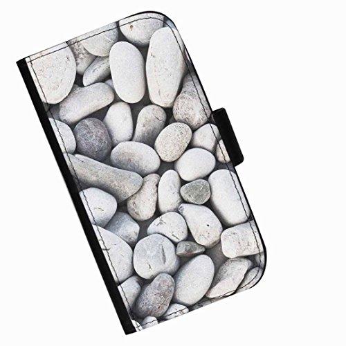 Hairyworm - Viele blasse Steine LG G2 (D800, D802/TA, D803, VS980, LS980) Leder Klapphülle Etui Handy Tasche, Deckel mit Kartenfächern, Geldscheinfach und Magnetverschluss.