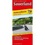 Sauerland: Motorradkarte mit Tourenvorschlägen, Ausflugszielen, Einkehr- & Freizeittipps, wetterfest, reißfest, abwischbar, GPS-genau. 1:150000