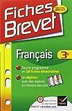 Fiches Brevet Français 3e: Fiches de cours - Troisième by Sylvie Dauvin (2012-07-18)