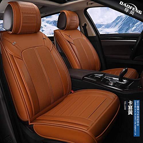 RUIX Autositzbezüge - Intelligente Fernbedienung Lüftung Heizung Massage Autositzbezug All-Inclusive-Kissen, 12V,Brown -