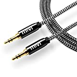 #7: 6ft long Nylon Braided Original Mivi Tough Aux Audio Cable with 3.5mm Male to Male Gold plated connectors for Headphones, Mobile phones, Home, Car stereos and more (Black)
