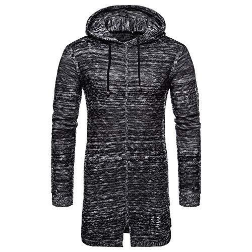 72adf02a7708 CICIYONER Männer Outwear Bluse, Herren Herbst Winter Mit Kapuze Solide  Stricken Mantel Strickjacke Lange Ärmel Outwear Bluse