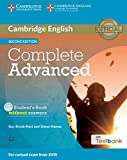Complete Advanced Student's Book without Answers with CD-ROM with Testbank Second Edition