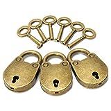 KING DO WAY Alte vintage antiken stil mini Vorhängeschloss gepäck box schlüsselschloss kupfer Vorhängeschlösser mit Schlüssel