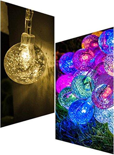 Xingyue Mythology Lampe LED 10 M Crystal Ball Romantique LumièRes DéCoratives SéRie Balcon FenêTre De NoëL ExtéRieur ImperméAble à Billes SéRie Feux Clignotants , colorful