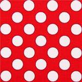Tela roja de Michael Miller con lunares blancos Ta Dot