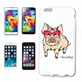 Phone Case Samsung Galaxy S5 SWEET PIG WITH GLASSES Domestic PIG warthog WILDBOAR