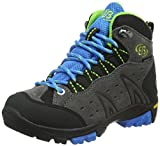EB kids MOUNT BONA HIGH KIDS, Jungen Trekking- & Wanderstiefel, Grau (GRAU/BLAU/LEMON), 34 EU (2 Kinder UK)