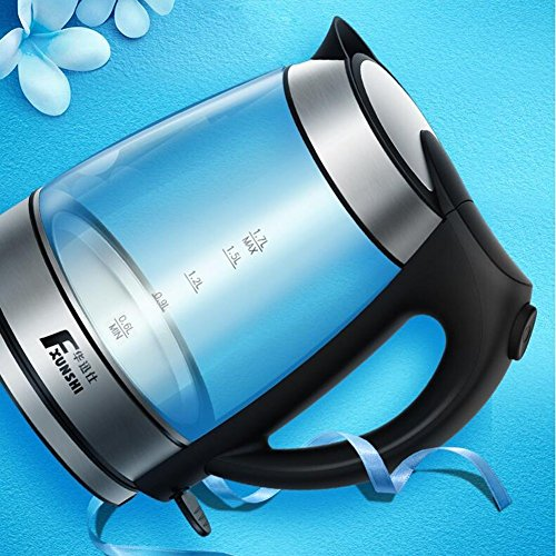 GPC Automatic Power off Glass Body Healthy Boiled Water Electric Kettle 1.7L 1850W Electric Kettles