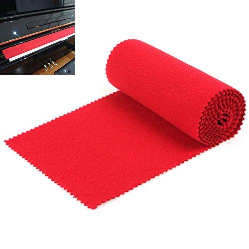 【 Best Deals für Weihnachten 】 origlam Red Soft Piano Tastatur Staub Cover, 88Tasten Schutz Staub Schlüssel Cover für elektronische Tastatur, DIGITAL PIANO (Staubschutz 88 Schlüssel-tastatur)