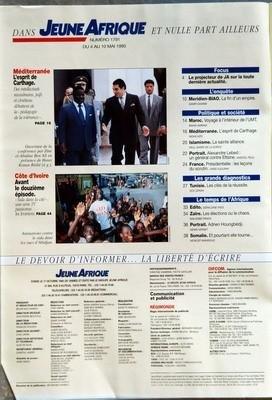 JEUNE AFRIQUE N? 1791 du 04-05-1995 ZAIRE - LES ELECTIONS OU LE CHAOS - ENTRE LE PRESIDENT MOBUTU SESE SEKO ET SON 1ER MINISTRE KENGO WA DONDO - BIAO - ENQUETE SUR UN SCANDALE - BENIN - ADRIEN HOUNGBEDJI LE FAISEUR DE MIRACLES - MEDITERRANEE - L'ESPRIT DE CARTHAG