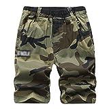 LAUSONS Kinder Shorts Jungen Camouflage Sommer Kurze Hose mit Gummizug und Taschen 9-10 Jahren