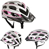 AWE® AeroStyleTM FREE 5 YEAR CRASH REPLACEMENT* Womens Bicycle Helmet - Pink/Silver, Size 56-58