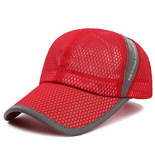 Sports Herren Baseball Cap Polo Golf Hut Frühling Atmungsaktiv Schweiß absorbierende Paar Bergsteigen Kappe Einstellbar Lkw-Fahrer Unisex Mode Atmungsaktiv Jungen Mädchen Mesh Cap ()