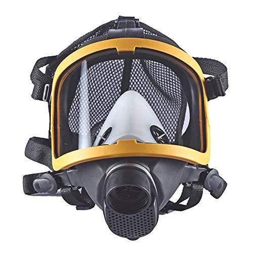 Dämpfe Atemschutzmaske Patrone (Gasmaske Generische Volles Gesichts Gas- Schutzbrille Maske für gegen Gase Dämpfe Partikel Generische Atemschutz- Maske,Black)