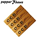 Papper Bawa Gold OCB King Size Rolling Paper Pack Of 4 Booklet (128) Leaves Assorted Hookah Flavor