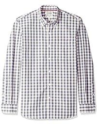 Goodthreads Camisa Popelín Estampado Tartán de Manga Larga Standard Fit Hombre