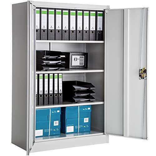 TecTake Armario archivador de Oficina metálico con 2 Puertas bloqueable e estantes - Varias tamaños...