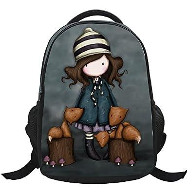 GenialES 3D Anime Mochila Escolar para Escuela Primaria Infantil Niños 40*29*18cm