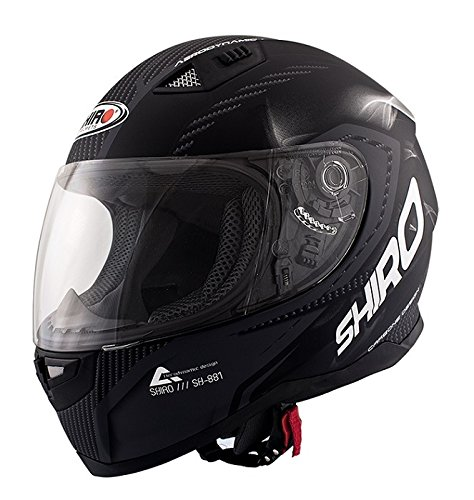 Casco Shiro Sh881 Mate Carbon (M)