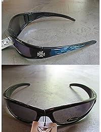 hotrodspirit - lunette de soleil choppers à croix de malte verre jaune nuit 96PDZMKV