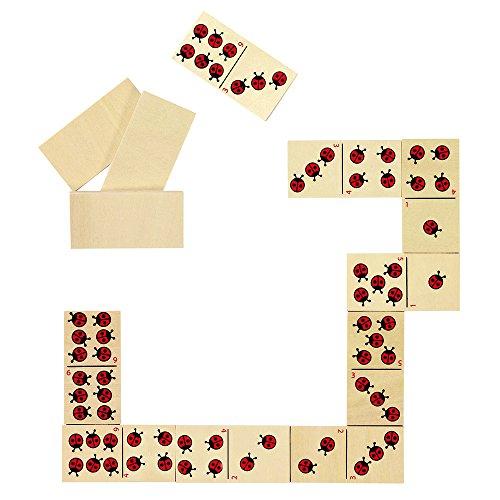 Preisvergleich Produktbild Goki 56716 - Dominospiel - Marienkäfer