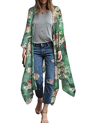 Festnight Cardigan Kimono De Gasa Mujer Estampado
