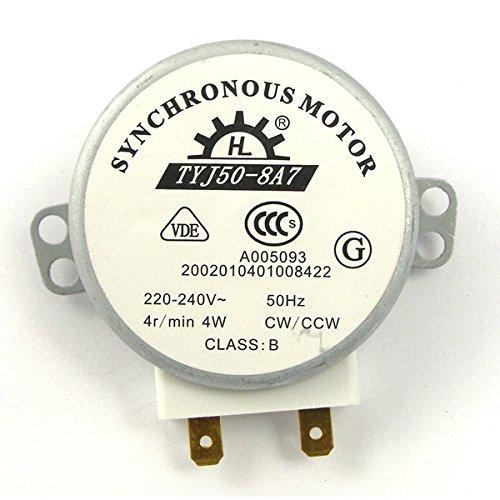 BESTOMZ TYJ50-8A7 AC 220V-240V 4 u/min 4W CW/CCW Mikrowelle drehbar Synchronmotor - Ac-gebläse-ventilator