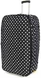 Frenzy® Large 26 Inch Expandable Lightweight Luggage Suitcase Bag (Black Polka Dot)