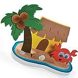 Elfen und Zwerge 6 x Insel Hawaii Sommerparty Bastelset Planschbecken Spielzeug Basteln Mitgebsel...