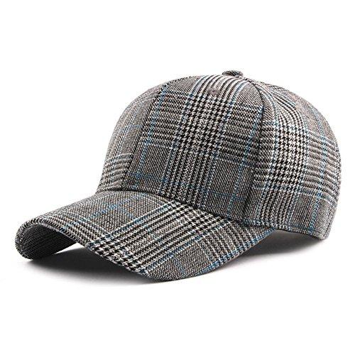 WLG Sombrero, Gorro Cuadros Hombres, Sombrero Sol,Gris