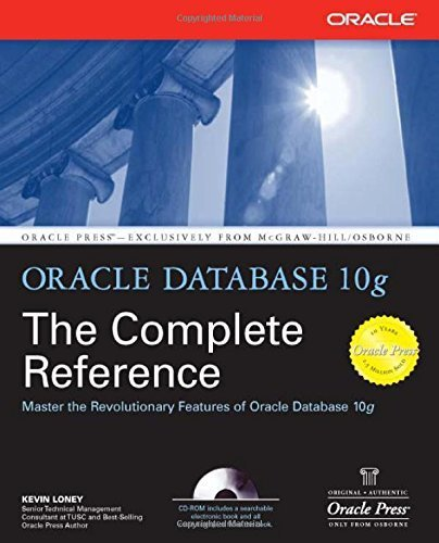 Oracle Database 10g: The Complete Reference (Osborne ORACLE Press Series) 1st edition by Loney, Kevin (2004) Paperback