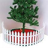 Await Weißen Lattenzaun Dekoration, Miniatur-Gartenzaun,Weihnachtsbaum Decoractive Holzzaun Xmas Decoractive Ornament für Festival Weihnachten (30)