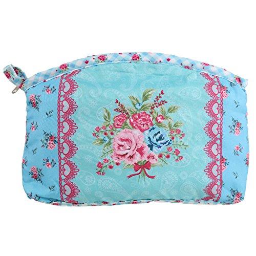 Mesdames filles cosmétiques maquillage sac toilette pratique cadeau Lavage Rose Style Shabby Chic bleu