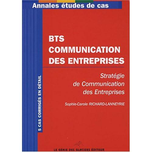 BTS Communication des entreprises : Stratégie de communication des entreprises