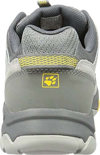 Jack Wolfskin Mtn Attack 5 Low M, Chaussures de Randonnée Basses Homme Gris (Burly Yellow Xt)