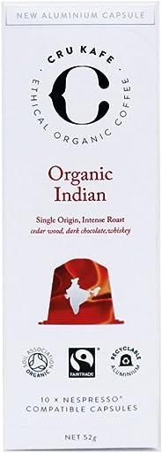 CRU Kafe Organic Coffee Capsules | Nespresso Compatible Coffee Pods | Indian Roast | Strength 11 |Bold with Plenty of Taste |