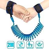 #10: Vistaratrade Kids Anti Lost Wrist Band Baby Child Safety Walking Hand Belt Velcro Wrist Link Adjustable 2M Walking Harness.